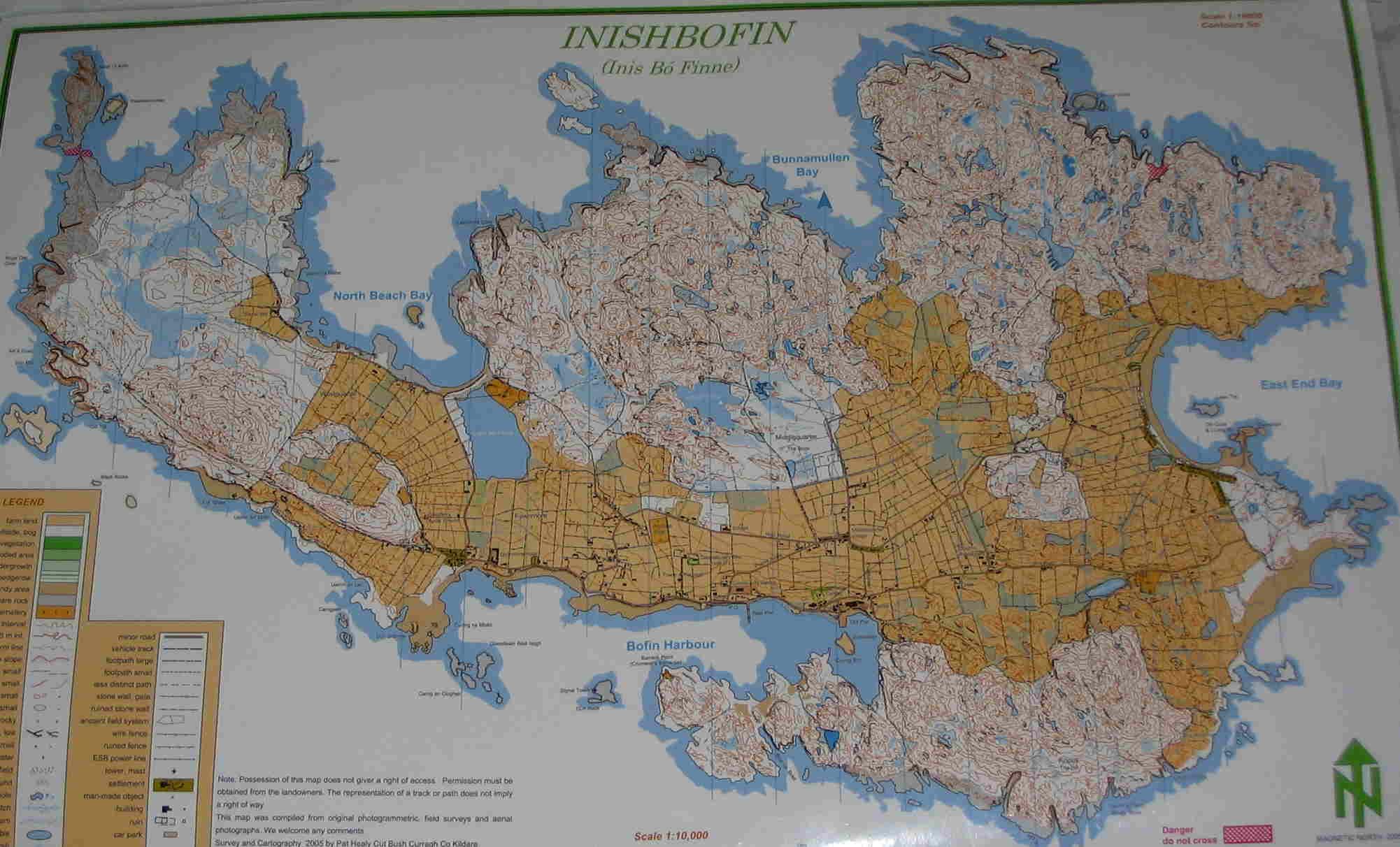 Inishbofin orienteering maps